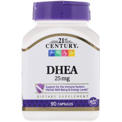 ДГЭА (дегидроэпиандростерон), DHEA, 25 мг, 21st Century , 90 капсул