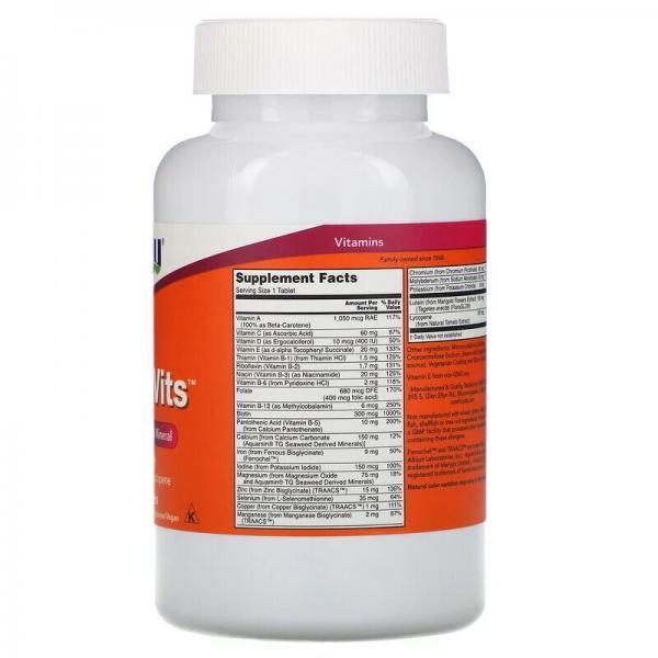 Мультивитамины, Daily Vits, Now Foods, 250 таблеток