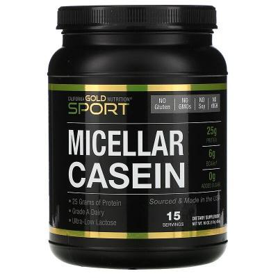 Мицеллярный казеин, MC 88, California Gold Nutrition, 454 г