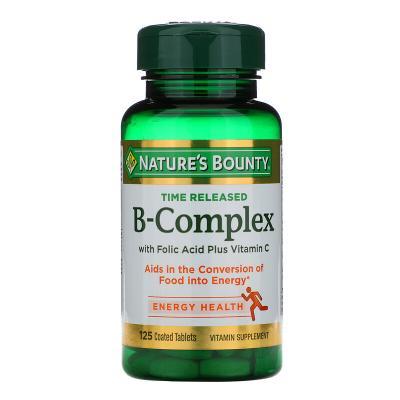 Витамин В, B-Complex, Nature's Bounty, комплекс, 125 таблеток