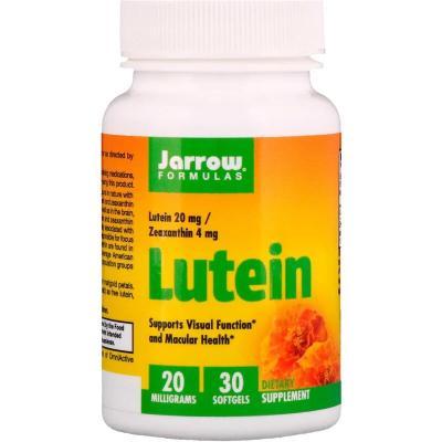Лютеин, Lutein, Jarrow Formulas, 20 мг, 30 капсул