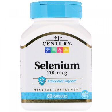 Селен, 200 мкг, 21st Century, 60 капсул