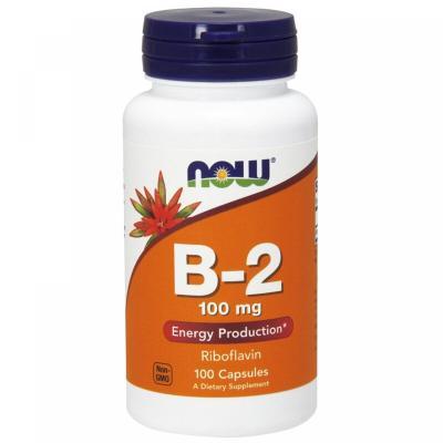 Рибофлавин, Vitamin B-2, Now Foods, 100 мг, 100 капсул