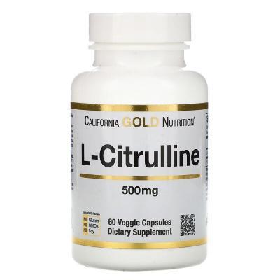 L-цитруллин, Kyowa Hakko, California Gold Nutrition, 500 мг, 60 растительных капсул