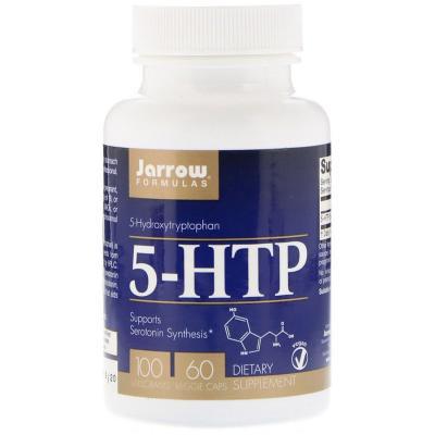 5-HTP, Гидрокситриптофан, Jarrow Formulas, 100 мг, 60 вегетарианских капсул