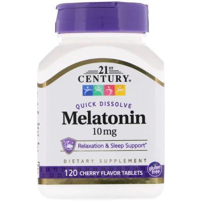 Мелатонин, Melatonin, 21st Century, 10 мг, 120 таблеток