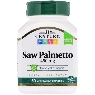 Со Пальметто, Экстракт, Saw Palmetto, 21st Century, 450 мг, 60 капсул
