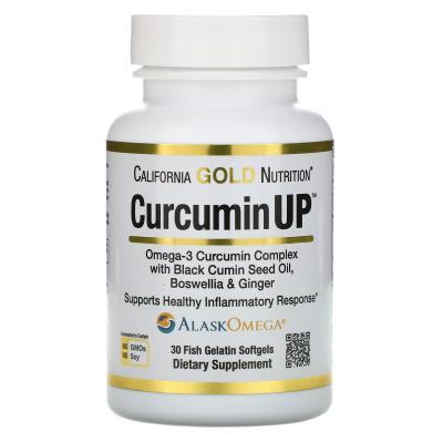 Куркумин комплекс с Омега3 (CurcuminUP), California Gold Nutrition, 400 мг/200 мг 30 капсул
