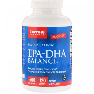 Рыбий жир баланс, EPA-DHA Balance, Jarrow Formulas, 120 капсул