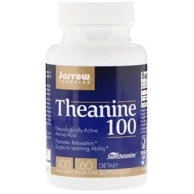Теанин, Theanine, Jarrow Formulas, 100 мг, 60 капсул