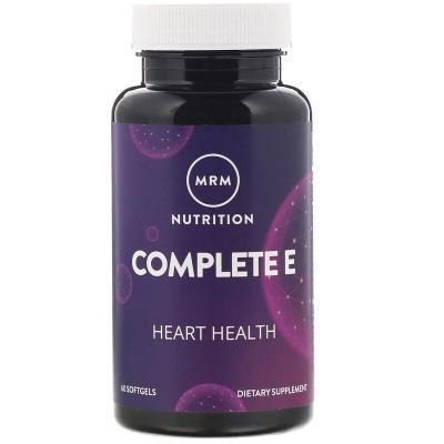 Питание, комплекс с витамином E, Complete E, MRM, 60 мягких таблеток