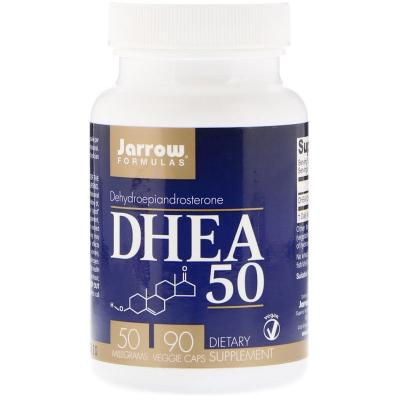 Дегидроэпиандростерон, DHEA 50, Jarrow Formulas, 50 мг, 90 капсул