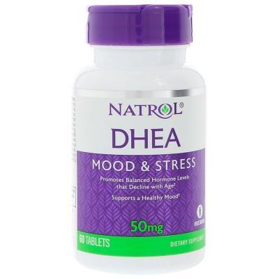 Дегидроэпиандростерон, DHEA, Natrol, 50 мг, 60 таблеток