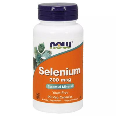 Селен, Selenium, Now Foods, 200 мкг, 90 капсул