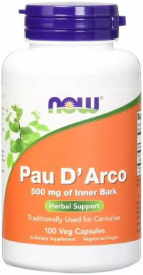 Экстракт муравьиного дерева, По д'арко, Pau D' Arco, Now Foods, 500 мг, 100 капсул