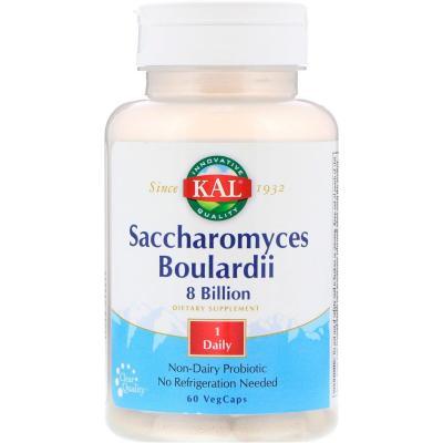 Сахаромицет буларди, Saccharomyces Boulardii 8 Billion, KAL, 60 капсул