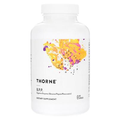 Пищеварительные ферменты (бетаин / пепсин / панкреатин), Digestive Enzymes, Thorne Research, 180 капсул