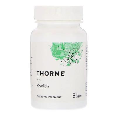 Родиола, Rhodiola, Thorne Research, 100 мг, 60 Капсул